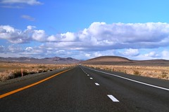 Lonely Desert Highway (Nick / KC7CBF) Tags: blue highway skies desert nevada hwy lonely i80 95 distance scrub divided sagebrush lovelock fernley
