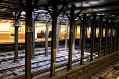 Let the Sun Shine In (Gary Burke.) Tags: newyorkcity railroad sunlight ny newyork canon eos rebel manhattan traintracks platform tracks terminal uptown trainstation rails mta gothamist subwaystation dslr eastside irt 1train lowerlevel nycmta garyburke 110street klingon65 t1i canoneosrebelt1i