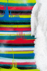 Wacky Land (jaxxon) Tags: snow abstract color colour macro colors lens prime nikon colorful paint colours stripes drip micro fixed abstraction drips 28 mm nikkor f28 dripping vr afs 105mm 105mmf28 d90 nikor f28g gvr jaxxon 2013 105mmf28gvrmicro nikkor105mmf28gvrmicro nikon105mmf28gvrmicro jacksoncarson