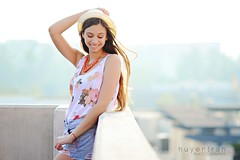 Tatiana (huyen-tran) Tags: portrait rooftop floral girl fashion hair photography outfit model photoshoot fedora
