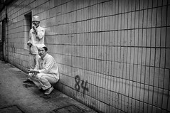 (Rob-Shanghai) Tags: china street portrait people blackandwhite bw streets cooking kitchen alley asia shanghai  nex6 e24f18za