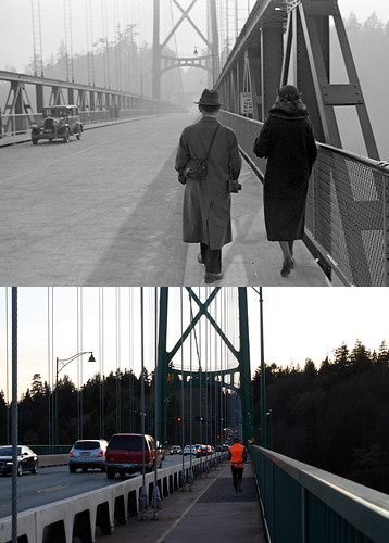 Lions Gate Bridge, Looking South - 1939/2012