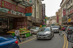 Quiet country street (shashin62) Tags: road street people cars shop fruit town asia traffic country taiwan busy