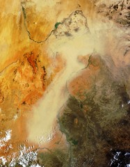 Sudan (sjrankin) Tags: africa desert edited sudan nasa processed modis 250m 25may2013