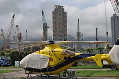 The last flying vehicle at the old airport (scotted400) Tags: hongkong airport helicopter kowloon buildingsite kaitak tokwawan