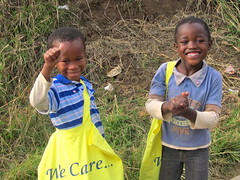 South Africa two young boys received school kits (CLWR1) Tags: southafrica kits quilts shipment wecare wecarekits