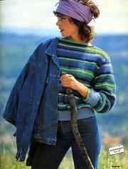 Ingrid 1983-08_03 (Homair) Tags: ingrid vintage sweater fuzzy fluffy mohair