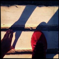 HipstaPrint (dimakk) Tags: park travel red art tourism archaeology architecture ruins shoes europe stadium hellas running games run nike unesco worldheritagesite greece grecia olympia olympic olympics athlete grece ancientolympia unescosite ancientstadium hipstamatic jollyrainbo2xflash foxylens sugarfilm