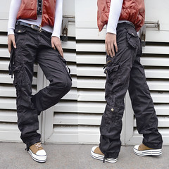 Ladies cotton loose cargo pants