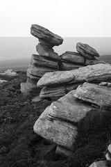 Crow Stones (l4ts) Tags: landscape blackwhite heather derbyshire peakdistrict darkpeak moorland gritstone southyorkshire upperderwentvalley crowstones minoltaamount britnatparks gritstonetors