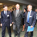 Umberto de Pretto, IRU Secretary General,    Siim Kallas, EC Vice-President and European Commissioner for Transport and Rimantas Sinkevičius, EU Transport Council President and Minister for Transport, Republic of Lithuania