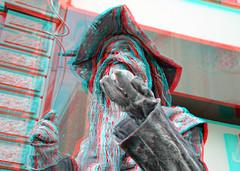 LevendeBeelden 3D (wim hoppenbrouwers) Tags: 3d anaglyph stereo dordrecht livingstatues redcyan levendebeelden dordrecht3d