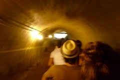 Into the light (cinusek) Tags: light brazil people movement mine tunnel goldmine minadapassagem
