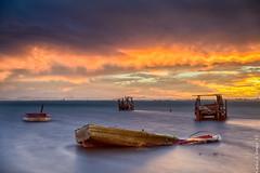 Sunset (Carlos J. Teruel) Tags: longexposure sunset espaa cloud atardecer boat spain nikon mediterraneo barco paisaje murcia le nubes fx tamron marmenor marinas x64 filtros largaexposicion 2470 polarizador hitechfilter xaviersam singhraynd3revgrad carlosjteruel d800e