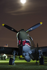 P-40 in the Moonlight (Pilot's Eye Photography) Tags: night afterdark eaa oshkosh osh13 oshkosh2013 airventire