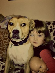 our doggy buddie and my daughter grace (Laura_riggy) Tags: life family pets love beauty memories care protection loyalty