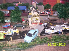 Sheriff's report 10/ 28/2013 (THE RANGE PRODUCTIONS) Tags: truck toy fire layout model law sheriff towtruck dioramas diecast animalcontrol 164scale diecastdioramas hoscalefigures