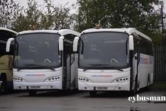 East Yorkshire 122 & 124, FH05URN & FH05URR. (EYBusman) Tags: road bus volvo coach airport yorkshire en