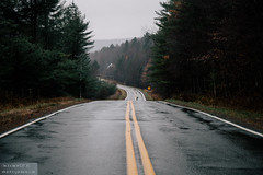 Middle of the road (dina bennett) Tags: november rain highway pavement empty roads ye
