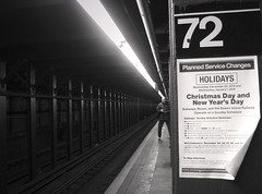 Christmas & New Year (only lines) Tags: christmas newyork station sign subway notice number 72 newyearsday 2013