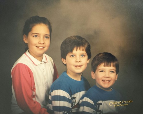 Kelli, Jonathan, and Caleb Copeland, children of Brian and Roxanne Copeland, grandchildren of William Delvie Copeland, circa 1990.