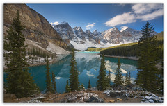 "Moraine Lake and the Valley of the Ten Peaks (Joalhi ""Around the World"") Tags: mountain canada reflections alberta banffnationalpark morainelake valleyofthetenpeaks ef35mmf14lusm coth5"