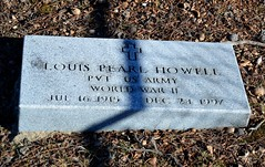 Louis Pearl Howell (Adventurer Dustin Holmes) Tags: cemeteries cemetery grave graves gravestone tombstones gravemarkers gravemarker wwiiveteran worldwariiveteran newhomecemetery louisphowell louispearlhowell