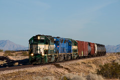 A long Day With the A & C - 4 (GRNDMND) Tags: arizona wall trains ac sd45 emd sd452 lapazcounty arizonacalifornia