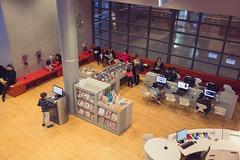 Espace Enfants (Bibliothque - Les Champs Libres - Rennes) Tags: france children brittany child library bibliothek champs biblioteca bibliothque enfant rennes libres espaceenfants bibliothquedeschampslibres