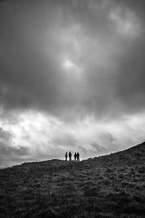 right as rain (james_drury) Tags: uk sky white lake black wet weather silhouette outdoors four mono skies moody hiking district cumbria figures rambling eskdale explored canonef24105mmf4lisusm vision:mountain=0829 vision:clouds=099 vision:sky=099 vision:ocean=0822 vision:outdoor=0843 vi