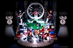 The Avengers, for one night only (Legoagogo) Tags: man america iron lego captain hulk avengers chichester moc legoagogo