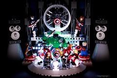 The Avengers, for one night only (Legoagogo) Tags: man america iron lego captain hulk avengers chichester moc legoagogo