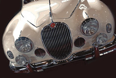 Sleek by design (Ken Quantick) Tags: white classic car flickr fender chrome british jaguar grille sleek flickriver kenquantick