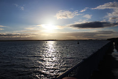 Day ending on Otterspool Promenade, Liverpool (Bosca Fotograf) Tags: light sunset urban sun seascape art water set clouds liverpool canon river photography mersey wirral settingsun otterspool 600d aigburth
