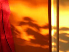 Kitchen, 20:25 PM (Zuggup) Tags: light shadow red orange sunlight abstract color colour rot lines contrast licht kontrast farbe schatten abstrakt linien sonnenlicht