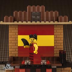 Flamenco Dancer | Series 6 (Peter von Kappel) Tags: smile toy toys lego stage mini dancer plastic spanish figure figures flamenco minifigure minifigures beholdtheblazeofelbaileflamenco