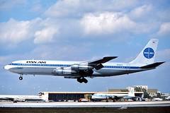 N886PA PanAm 707-321B landing at KMIA (GeorgeM757) Tags: airplane flying airport aircraft boeing 707 panam panamerican kmia miamiinternational alltypesoftransport 707321b n886pa georgem757sphotostream