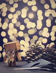 A Sky Full Of Stars (Sarah-BK) Tags: christmas sky guy night cutout dark stars lights wings amazon coldplay bokeh box album ghost full cardboard stories acorns danbo danboard