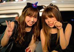 Kawaii Kittens (aeschylus18917) Tags: danielruyle aeschylus18917 danruyle druyle ダニエルルール ダニエル ルール japan 日本 halloween night costume roppongi 六本木 tokyo 東京 cute girl beautiful woman smile posing 50mm cat kitten