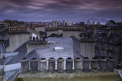 Old v New (Pureo) Tags: longexposure sky skyline clouds canon newcastle cityscape sage tyne gateshead tynebridge lee milleniumbridge quayside chimneypots leefilters gatesheadsage canon6d