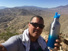 Something New, Something Blue... Hiking With Mizulife (Blue Rave) Tags: iphonephotography iphoneography mizubottle mizulife california palmsprings hiking hike trail nature 2016 path pathway self myself ego me bloke dude guy male mate people mountains selfie blue thecolorblue color murraypeak