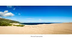 Dunas de Valdevaqueros (Franci Esteban) Tags: ocean mar arena duna tarifa dunas panormica estrechodegibraltar oceanoatlntico parquenaturaldelestrecho dunadevaldevaqueros