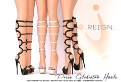 REIGN.- POSIE GLADIATOR SANDALS (Kenadee Reign) Tags: summer shoes mesh boots body blueberry secondlife heels freya belleza hourglass reign maitreya slink