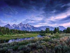 Grand Teton Dawn (Dan Mihai) Tags: mountains sunrise landscape landscapes nationalpark moose jackson snakeriver wyoming grandteton schwabacherlanding