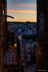 Sunrise over the streets of Piazza Armerina (ThomasBartelds) Tags: italy sicily piazza armerina