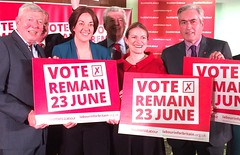 At the launch of the Scottish LabourIn campaign