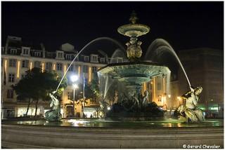 Lisboa - Fontaine Place Dom Pedro IV.
