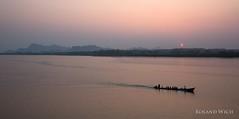 Hpa An Sunset (Rolandito.) Tags: sunset boat asia burma an myanmar asie southeast birma hpa birmanie birmania