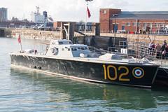 High Speed Launch 102 (Al Henderson) Tags: england rescue october unitedkingdom hampshire historic gb portsmouth 102 raf dockyard 2015 royalairforce highspeedlaunch hsl102