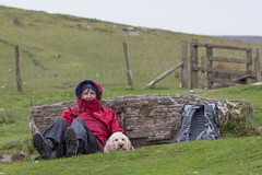 A 'wish you were here' holiday snap! (DP the snapper) Tags: dog wet rain walking breconbeacons turbo cp cwmllwchwalk